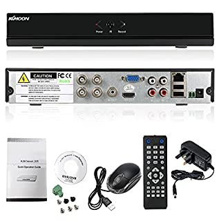 KKmoon 4 Channel Standalone CCTV DVR Recorder 960H H.264 HDMI VGA Output Video Surveillance Pre-alarm Recording 4-ch video 2-ch Audio input Pre-alarm Recordin And P2P Cloud Etc Function Supported