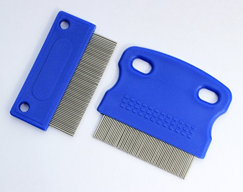 FYP Dog Tear Stain Remover Combs | Twin Pack | Buy Once Will Last A Lifetime | Quality Perfect Tools To Remove Crust, Mucus and Gunk Gently and Effectively From Around Your Dogs Eyes