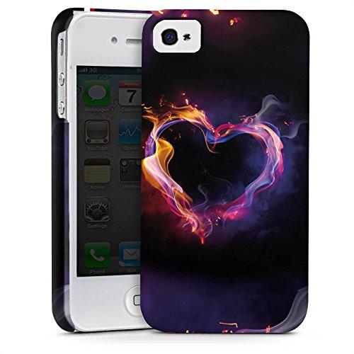 Apple iPhone X Silikon Hülle Case Schutzhülle Liebe Herz Brennendes Herz Premium Case glänzend
