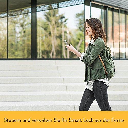 Elektronisches Türschloss Nuki Combo (Smart Lock und Bridge) – Elektronisches Türschloss – Automatischer Türöffner mit Bluetooth, WLAN, mit Amazon Alexa