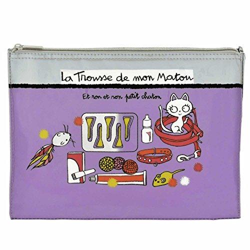 Derrière La Porte DLP : Trousse de Rangement pour Accessoires Chat - Et Ron - Violet Valérie Nylin