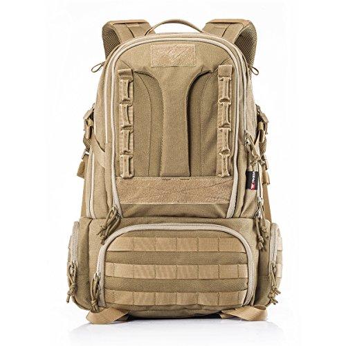 YAKEDA Große Taktische Outdoor Trekking Rucksäcke Militär Tasche zum Wandern Camping Bergsteigen 45L-BKF-007 (Dschungel digitale Tarnung) Khaki