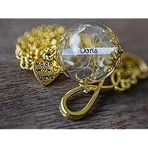 Namenskette Gold Glück Kette Geschenk Wunschfüllung Löwenzahn Blüten