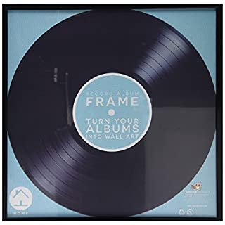 Retro Vinyl LP Record Album Square Frame 30 Centimeter 12 Inch Cover Sleeve Wall Art Display - Black