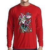 N4340L Camiseta de Manga Larga El Tiburon (Small Rojo