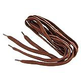 REMA 1 Paar Schnürsenkel - flach - ca. 7,0 mm breit in verschiedenen Farben und Längen (90 cm, Mittelbraun)