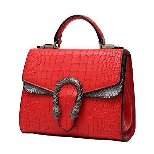 Di Modo Delle Signore Di Grande Capienza Messenger Bag Multi-color Red