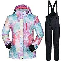 TOOGOU Damen Skianzug Snowboard Bekleidung Wasserdichte Ski Jacken + Hosen