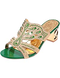 Amazon.it  sandali gioiello - Verde   Sandali   Scarpe da donna ... 17863ee6933