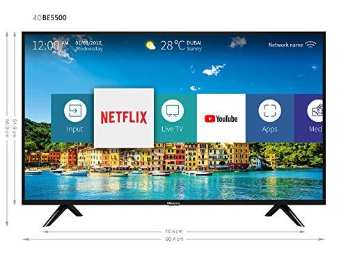 51UR8HE%2B2CL - Hisense H40B5600 - TV 40' FullHD Smart TV, 2 HDMI, 2 USB, Salida óptica y de Auriculares, WiFi n, Audio DBX, Procesador Quad Core, Smart TV VIDAA U 2.5.