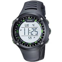 OHSEN Women's Teenagers Waterproof Sport Watch Wristwatch Digital Display Backlight with Alarm Stopwatch - Green