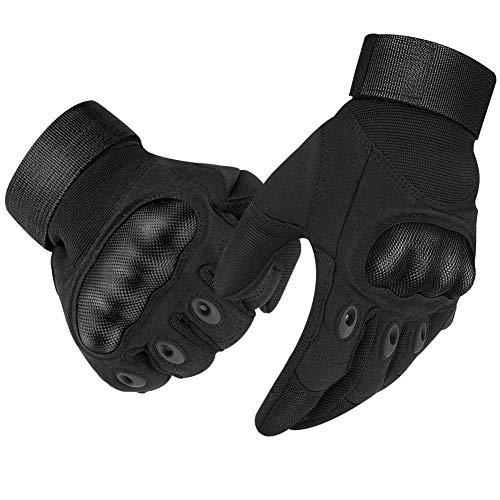 Lucky-all star - Paio di guanti tecnici in fibra di carbonio, adatti per moto, equitazione, sci, airsoft e uso militare, adatti per touch s
