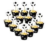 Die besten Fußball-Picks - Hacoly 12 Cupcake Wrappers + 12 Kuchen Picks Bewertungen