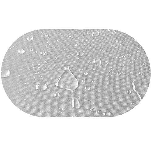 DecoHomeTextil Transparente Folie Tischdecke LFGB Rund Oval Dicke & Größe Wählbar Oval ca. 140 x...