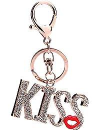 GSCshoe Couples Porte-clés Baiser lèvres Rouges Set Auger Porte-clés  Pendentif Bijoux Cadeaux 1bdaa2cb15a