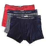Polo Ralph Lauren Herren Boxershorts 3er Pack Classic Trunk (7 (Gr. X-Large), Rot/Blau/Gestreift)