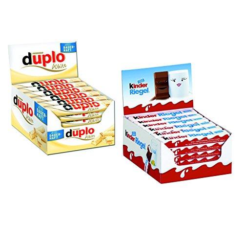 Preisvergleich Produktbild Ferrero Kinder Riegel (36 Stück) und Duplo White (40 Stück)
