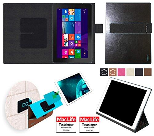 reboon Hülle für Dell Venue 10 Pro LTE 64 GB Tasche Cover Case Bumper | in Schwarz Leder | Testsieger