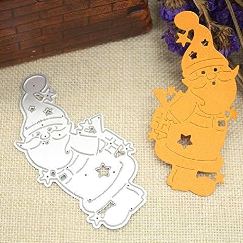 Stanzschablone Scrapbooking, SHOBDW Frohe Weihnachten Metall Schneiden stirbt Schablonen Scrapbooking Prägung DIY Handwerk (L)