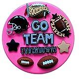 American Football Sport Silikon Silikonform für Kuchen dekorieren KUCHEN, Cupcake Topper Zuckerguss Sugarcraft von Fairie, Blessings