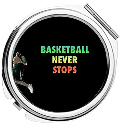 Babu Building Metall Zum Cosmetic Mirror Drucken Mit Basketball Never Stops F¨¹r Frauen Anders (Masquerade Mask-stick)