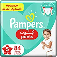 Pampers Pants, Size 5, Junior, 12-18 kg, Mega Box, 84 Diapers