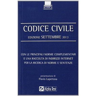 Codice Civile. Settembre 2013
