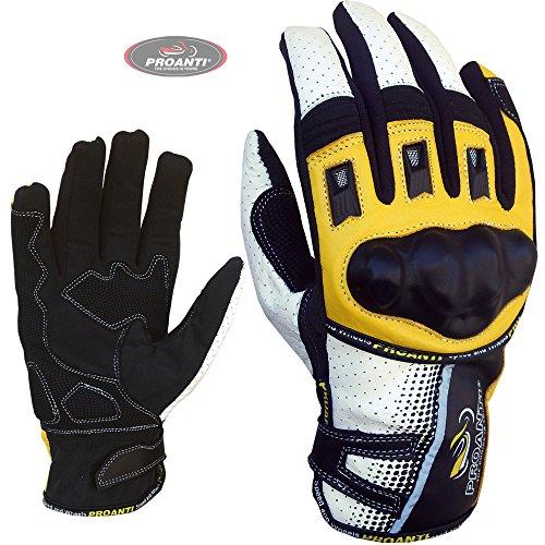 Motorradhandschuhe Sommer Motorrad Motocross Handschuhe von PROANTI - Größe M