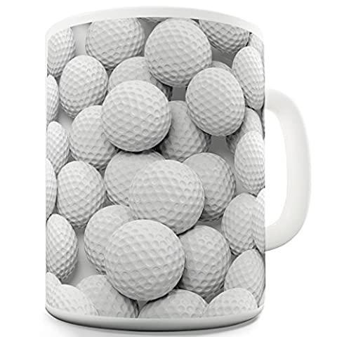Twisted Envy Lots Golf Balls Ceramic Tea Mug