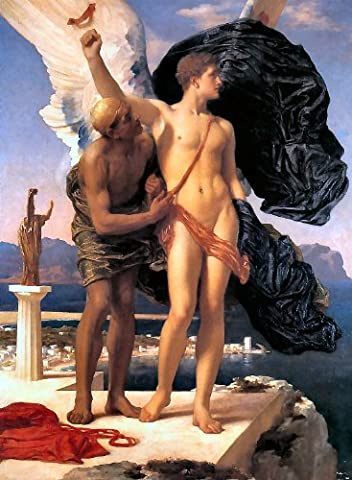 80 Daedalus and Icarus 1869 Lord Frederick Leighton art print/poster
