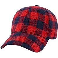 Damen Herren Mode Plaid HipHop Baseball Kappe Sommer Strand Snapback Hut Retro Mütze