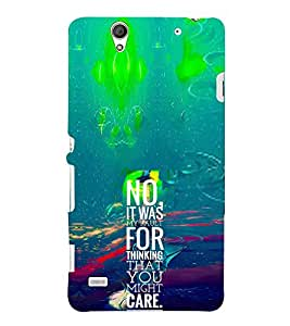 EPICCASE My fault Mobile Back Case Cover For Sony Xperia C4 (Designer Case)