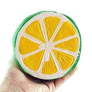 beautijiam Slow Rising Spielzeug, Weicher Half grün Zitrone Form drücken Dekompression Toys Stress Relief Geschenk für Kinder Erwachsene