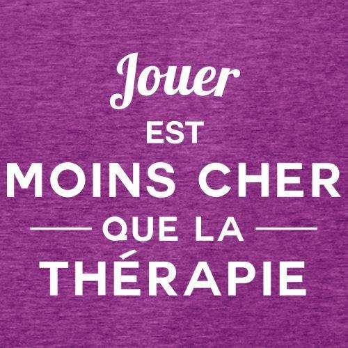 Jouer est moins cher que la thérapie - Femme T-Shirt - 14 couleur Rose Antique