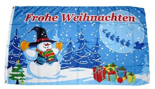 FahnenMax drapeau motif cadeaux de noël 90 x 150 cm