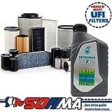 Set à 4Original-Filter Sofima + 5Liter Motoröl Selenia WR 5W40(S5049PE, s7606a, S1ONENR, S3115C)