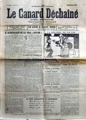 CANARD ENCHAINE (LE) [No 191] du 25/02/1...