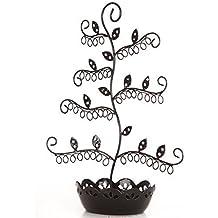 Joyero con forma de árbol en negro para pendientes