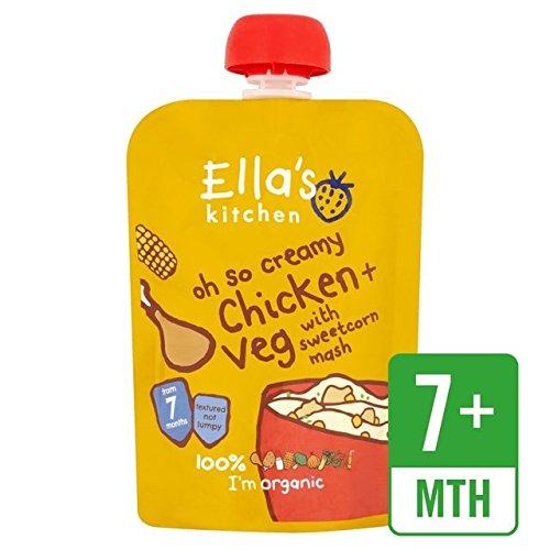 Preisvergleich Produktbild Ella's Kitchen Organic Chicken & Sweetcorn Mash Stage 2 130g