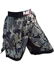 2 Fit - Pantalones cortos para artes marciales mixtas, boxeo, lucha libre, kick boxing, diseño de camuflaje, camouflage