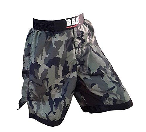 2Fit Pantaloncini per MMA (arti marziali miste), kick boxing, combattimento in gabbia, MIMETICO, CAMOUFLAGE