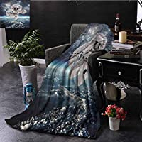Soft Blankets Space Dramatic Storm Clouds in Sky Blanket Comfort Microfiber
