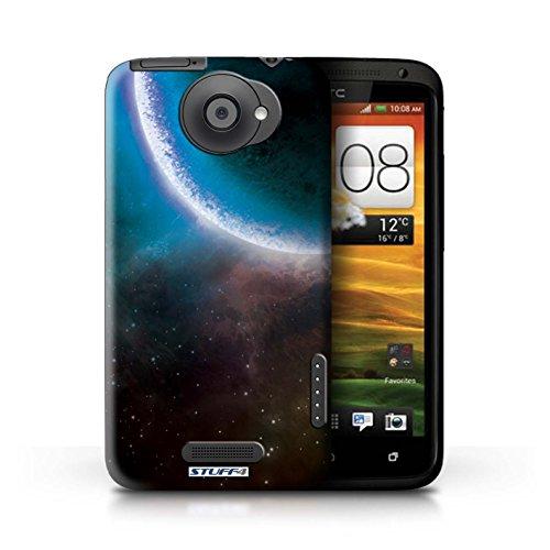 Kobalt® Imprimé Etui / Coque pour HTC One X / Éclipse Pourpre conception / Série Cosmos Éclipse Bleu