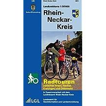Rhein-Neckar-Kreis: Radtouren zwischen Rhein, Neckar, Kraichgau und Odenwald (Landkreiskarte / 1:50000)