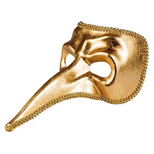 NEU Maske Pantalone, gold (Pantalone Kostüm Und Maske)