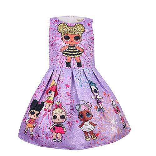 OL Rock Tutu Kleinkind Kinderkleidung Geburtstagsgeschenk Party Kostüm Alter 3-8 Jahre,Purple,100cm ()