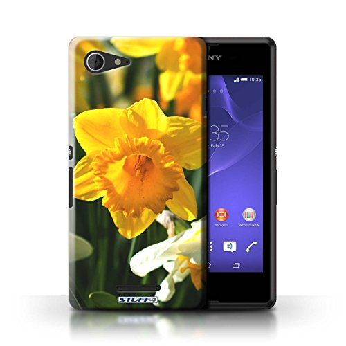Kobalt® Imprimé Etui / Coque pour Sony Xperia E3 / Begonia conception / Série floral Fleurs jonquille