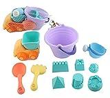 Adore center Silikon Kinder Strand Spielzeug-Set für Sandkasten & Strand Eimergarnitur Sandkasten Set Strand Sandformen (S1)