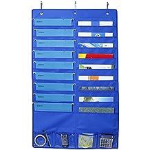 Placard de porte de mur accrochant l'organisateur de dossier de sac de stockage de double-couche pour des sacs-cadeaux, des arcs, le ruban et plus