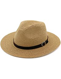 Lisianthus002 Ladies Summer Belt Trilby Straw Hat
